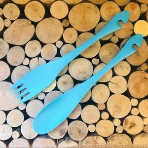 Other - NWOT Turqoise Blue Salad Servers
